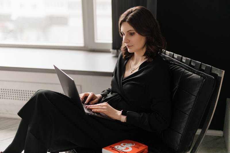 Woman working on a performance improvement plan