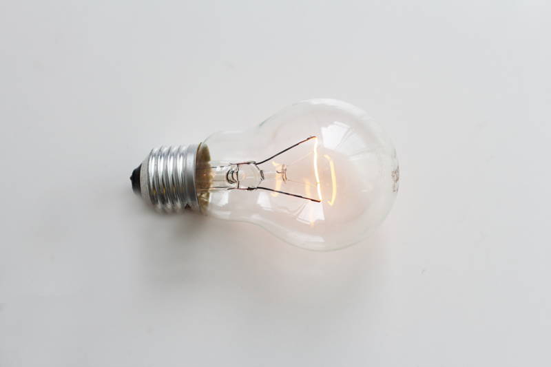 Lightbulb on a white background