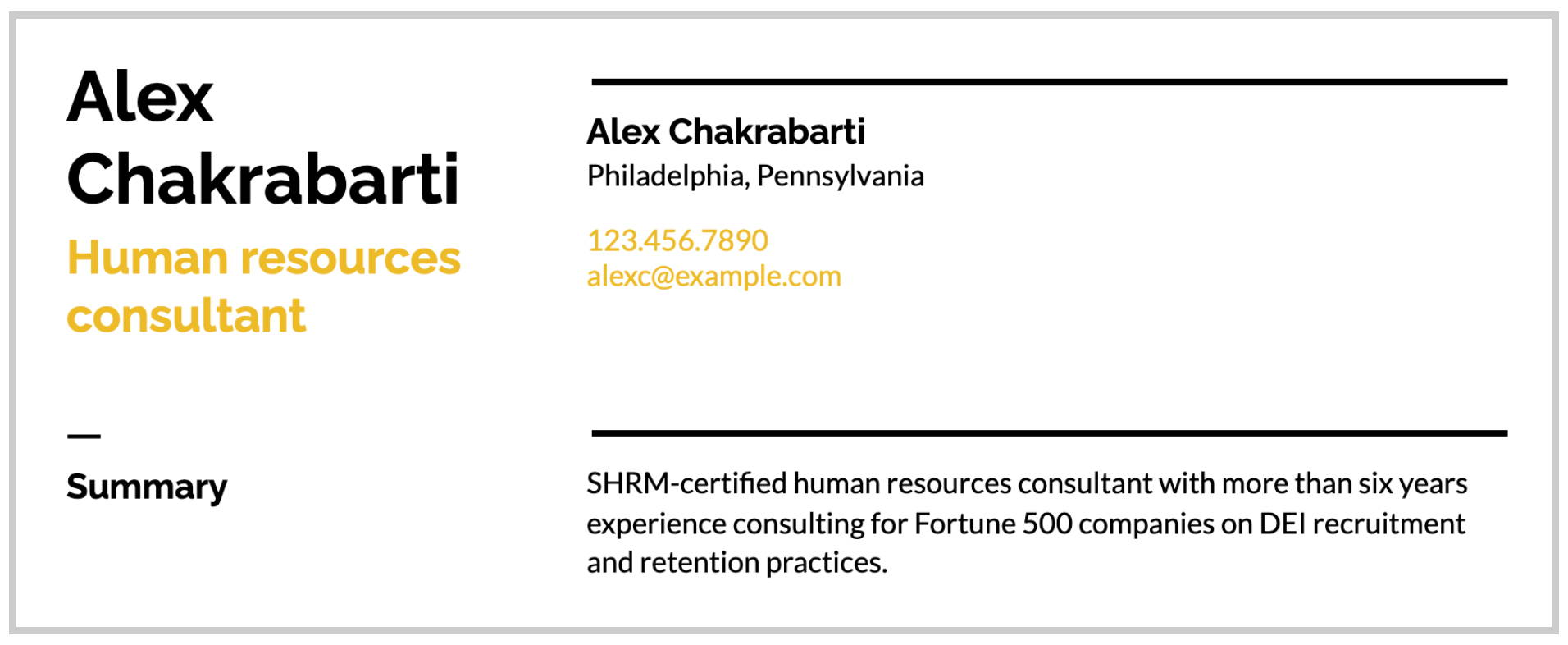 Certification listed in resume summary example