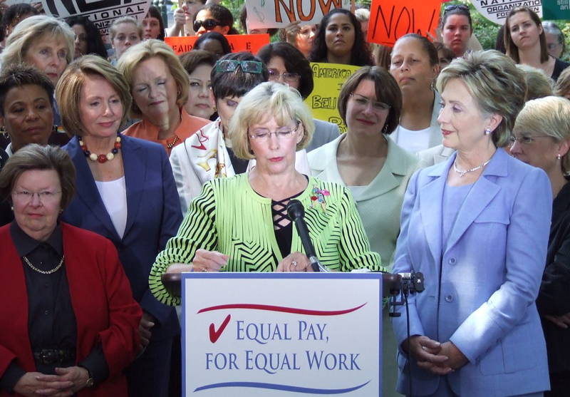 Lilly Ledbetter at the Rally for Pay Equity