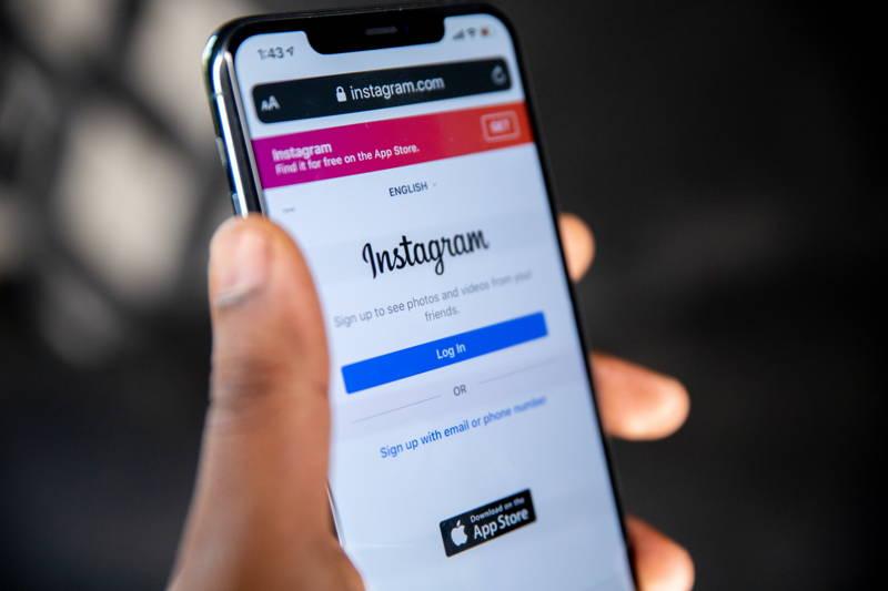 Instagram login screen on an iPhone