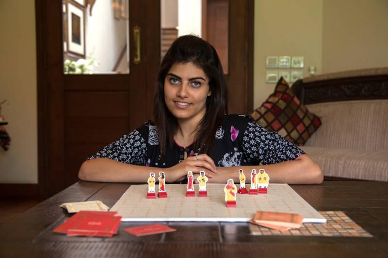Nashra Balagamwala with her board game, Arranged!