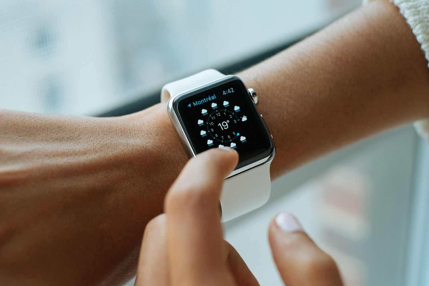Apple Watch on a woman's arm