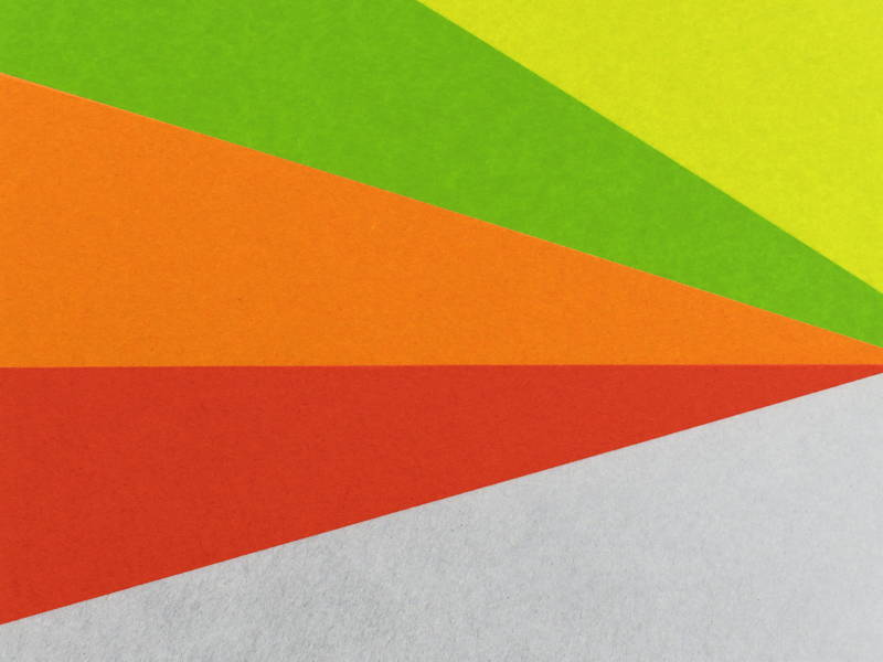 Multicolored sections
