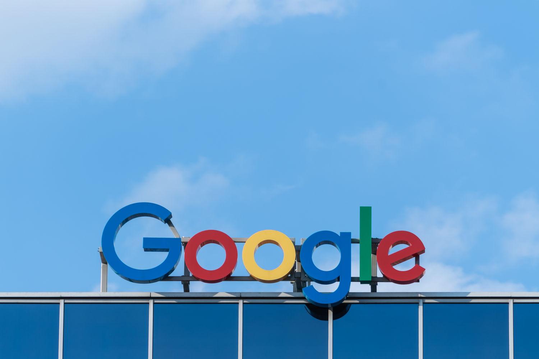 Google sigh on a building