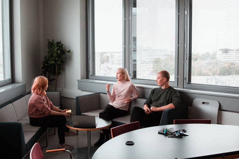 People meeting in an office