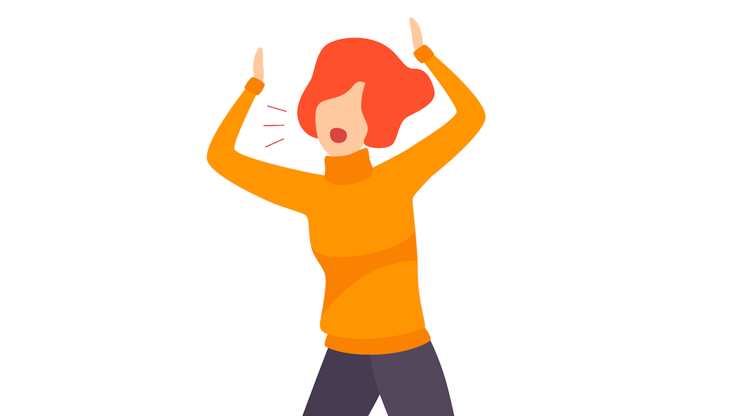 Illustration of woman shouting