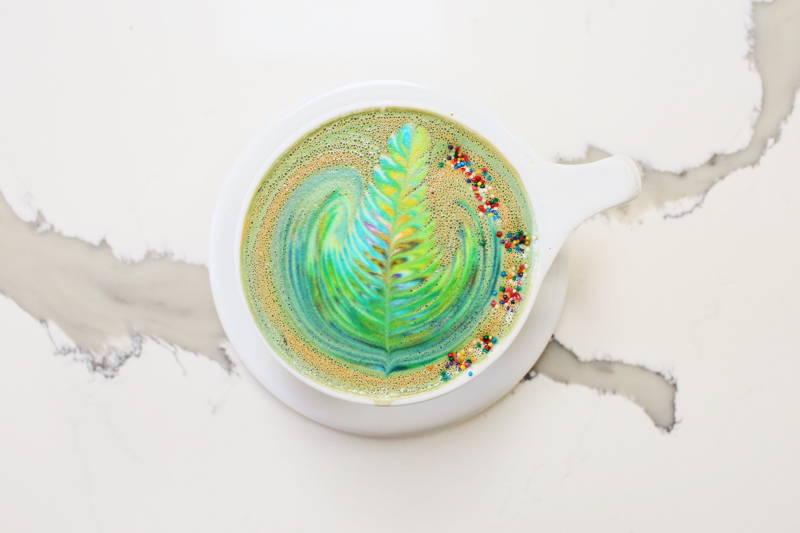 Rainbow latte